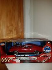 James Bond Diamonds Are Forever ~ Ford Mustang Mach 1 ~ Red ~ 1:18 Ertl Joyride