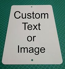"New Personalized 9"" x 12"" Aluminum Metal Sign Customize with Text or Picture"