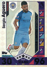 2016/17 MATCH ATTAX 16/17 SERGIO AGUERO SILVER LIMITED EDITION. MAN CITY LE3