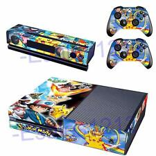 Anime Pokemon Vinyl Skin Decals Stickers for Xbox One Console Kinect Controllers