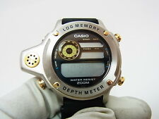 Casio DEP-500 1st Depth Meter Log Memory Diver's Gold Silver Watch Not Working