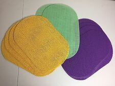 Placemats Vinyl PVC Pliable Waffle Weave Wipe Clean Purple Yellow Green