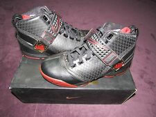 NIB NIKE AIR ZOOM LEBRON V 5 BLACK VARSITY CRIMSON METALLIC GOLD SHOES SIZE 9