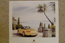 2006 Porsche Carrera Cabriolet Showroom Advertising Poster RARE!! Awesome L@@K
