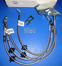 Russell 692210 Stainless Steel Braided Brake Line Hose Kit Pontiac G8 GT 2008-09