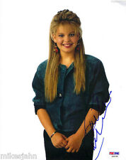 Candace Cameron Bure Full House DJ Tanner Autograph 8x10 Photo PSA DNA COA