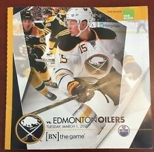 2015-16 Buffalo Sabres program 3/1/16 Jack Eichel cover vs Edmonton McDavid