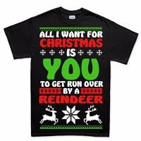 All I Want For Christmas Xmas Funny New Gift Present T shirt Tee
