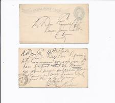 CANADA MAY 20, 1892 LT GRAYISH GREEN SENT TO  BANQUE JACQUES CARTIER, SEE INFO