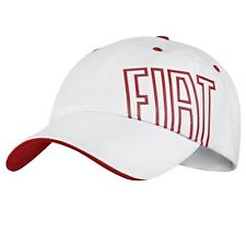 Fiat Baseball Cap Hat White Red New Genuine 50907185