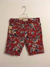 RALPH LAUREN DENIM AND SUPPLY FLORAL SHORTS RED SUPREME SIZE 30