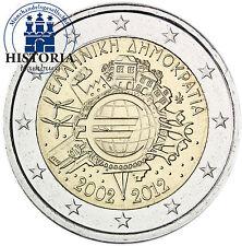 Griechenland 2 Euro 2012 bfr. 10 Jahre Bargeld, Einführung Euromünzen Banknoten