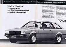 PUBLICITE ADVERTISING 114 1980 TOYOTA CORROLLA le style du futur (2 pages)
