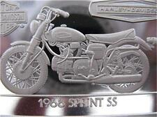 1.4-OZ.999 PURE SILVER 1968 SPRINT SS  HARLEY DAVIDSON 90TH ANNIVARSARY  + GOLD