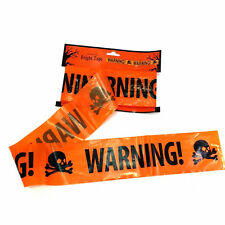18ft DIY Halloween Party Warning Tape Signs Decoration Window Prop Decor Plastic