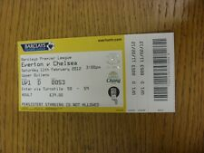 11/02/2012 Ticket: Everton v Chelsea  (folded). Thanks for viewing this item, we