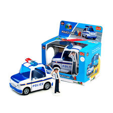 POLICE CAR PAT with Rookie Korean Character Die-cast Pull Back Car Toy Vehicle