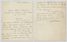 Auguste Rodin – letter signed regarding a Rodin bronze for the Bavarian State