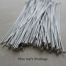 100 stainless steel jewelry headpins 2 inch 24 gauge