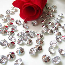 500 Silver Big Diamond Confetti Scatter Wedding Table Decorations Supplies 8 mm