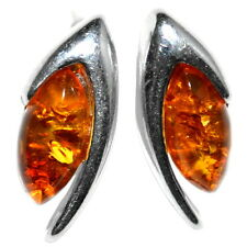 2.25g Authentic Baltic Amber 925 Sterling Silver Earrings Jewelry A8294