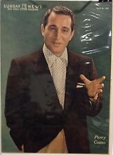 Perry Como Insert Cover from New York's Picture Newspaper - April  26, 1953