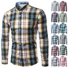 Fashion Tops New Mens Shirts Plaids Luxury Slim Long Sleeve Colorful Dress Shirt