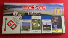 Monopoly Board Game Golf Edition used but Complete Pewter Tokens HASBRO 2002