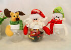 Christmas Clear Plastic Santa Cookie Candy Storage Bottle Bags Sweet Party Gift
