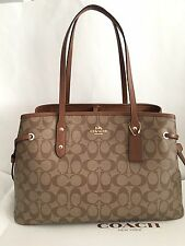 NWT COACH F57842 DRAWSTRING CARRYALL IN SIGNATURE, MSRP$350