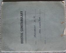 WW2 Bristol Constabulary note book hand written on ARP & Gas training 1942