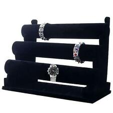 Velvet 3 Tier Bangle Watch Bracelet Jewellery Display Stand Box Case Retial