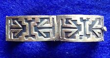 sterling silver bracelet taxco aztec mexico 4 panel hinged vintage .925