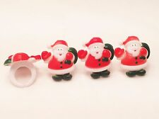 12 Santa Christmas Cupcake Rings Toppers Party Favors Decorations