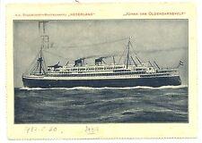 NEDERLAND-S.M.N. 1932 =JOHAN VAN OLDENBARNEVELT = PB SHIP =NO STAMP