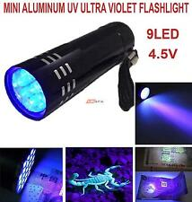 Mini Aluminum UV Ultra Violet 9 Led Flashlight Torch Light Lamp | Lifafa