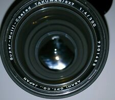 new Pentax SMC (Super-Multi-Coated) TAKUMAR 6x7 67 300mm f/4 Lens