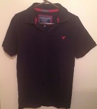 American Eagle Outfitters - Black Polo Shirt - Sz: L - Vintage Fit - Red Logo