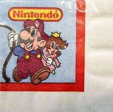 Vintage SUPER MARIO BROS SMALL NAPKINS (16) ~ Birthday Party Supplies Nintendo