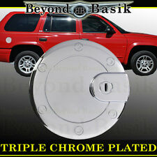 Chrome Fuel Gas Door Cover Cap Overlay Trims DODGE DURANGO 1998-2009 LIMITED