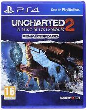 UNCHARTED 2 EL REINO DE LOS LADRONES PS4 EN CASTELLANO ESPAÑOL NUEVO PRECINTADO
