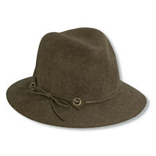 Womens Scala Wool Safari Style Hat-Brown with Slim Line Band-One Size fits most