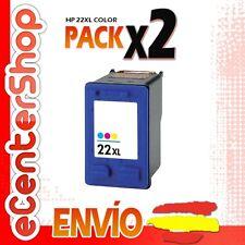 2 Cartuchos Tinta Color HP 22XL Reman HP Deskjet D2451