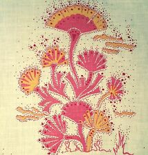 KATIE RIDDER Seawood orange hand printed linen new remnant