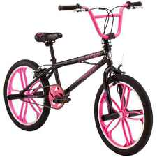 "20"" Old School Style Mongoose, Freestyle Kids Girls BMX Bike, Steel Black Frame"