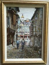 "SUPERB NEW ORIGINAL DENNIS SYRETT ""Honfleur"" French Normandy France OIL PAINTING"