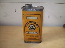 Antique Cities Service Oils 1-4 Gallon Motor Oil One Quart Metal Can-Gas Station