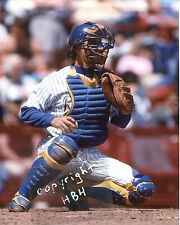 CHARLIE O'BRIEN Photo in action Milwaukee Brewers 1982 World Series (c)