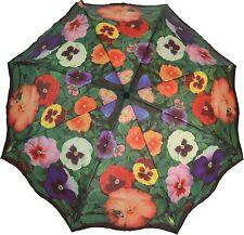 ArtBrollies PANSIES manuel ouvrir fermer pliant parapluie Brolly compact l'art floral