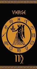 Serviette Drap de plage Signe du Zodiaque astrologique Vierge en Jacquard